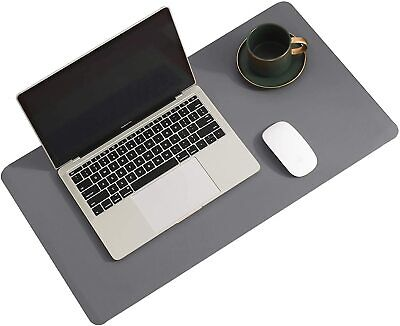 Natural Cork Leather Double Sided Office Desk Mat Gray 31.5 X 15.7