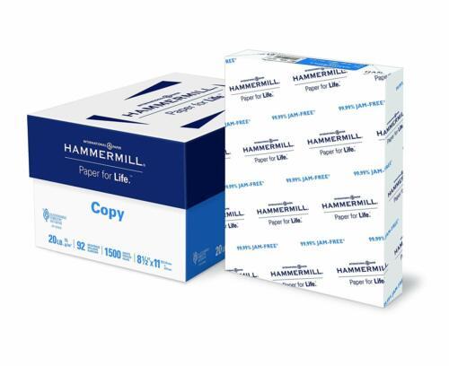 Hammermill Paper, Copy Paper, 8.5 x 11, Letter Size, 3 Ream Case / 1,500 Sheets