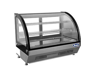 Refrigerated Curved Glass Display Case Cooler Merchandiser Nsf Led Lighting