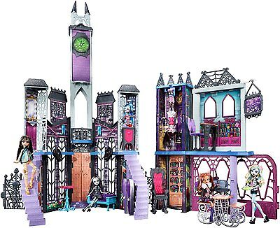 Monster High School Play Set Kids Fun Toy Vampire Mansion Castle Goth Doll House