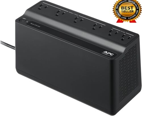 APC Back-UPS 425VA Battery Backup Uninterruptible Power Supply Surge Protection
