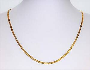 "9k Yellow Gold Double Link Chain 7gm 47cm 18"" 2.5mm wide Necklace Ipswich Ipswich City Preview"