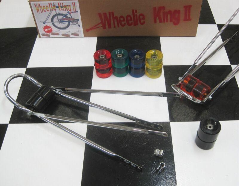 Bicycle Wheelie BAR - WHEELIE KING + BLACK Wheels for Vintage Banana Muscle Bike