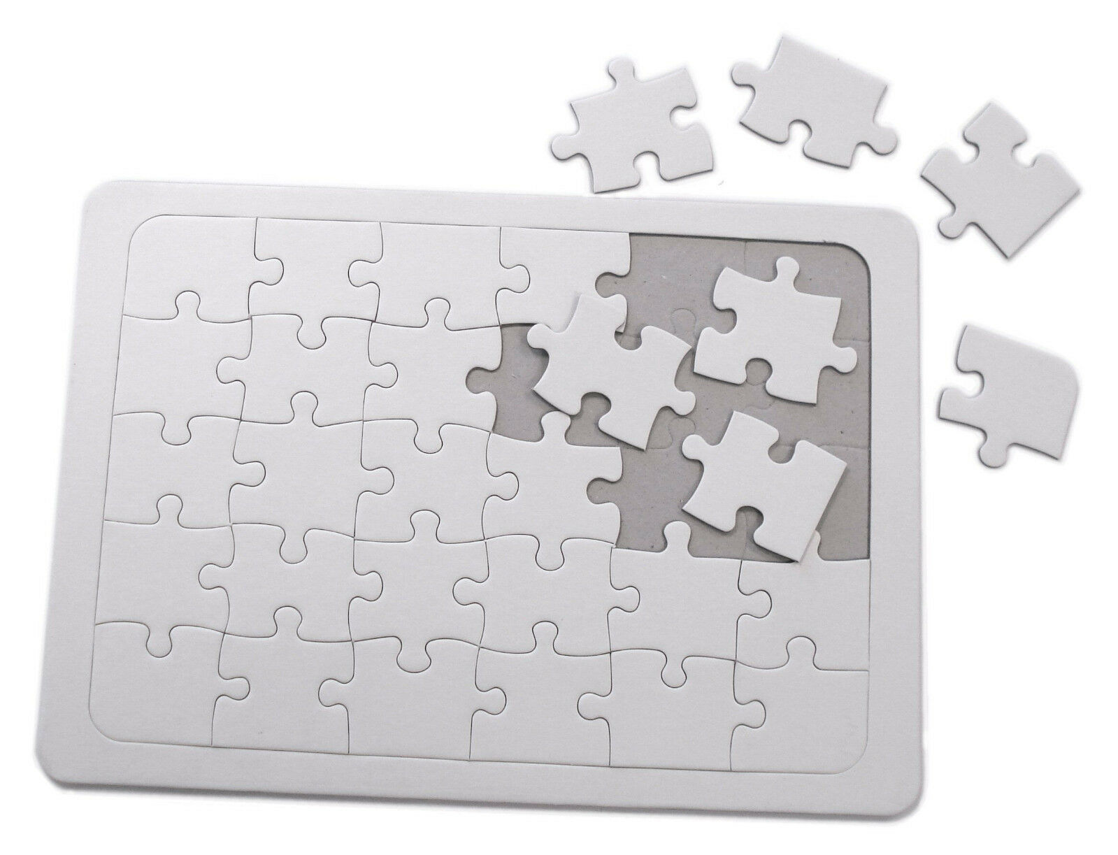 A4 Size Blank Wooden Jigsaw with centre Heart 25 Pieces