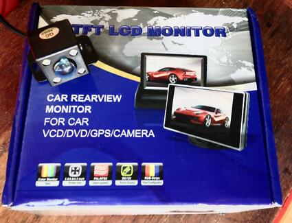 "New LCD Reverse Camera System - 5"" Monitor w/ Waterproof 170deg Cam"