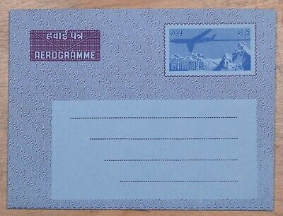 MayfairStamps Nepal r1.25 Airplane and Mountains Mint Stationery Aerogramme wwo7