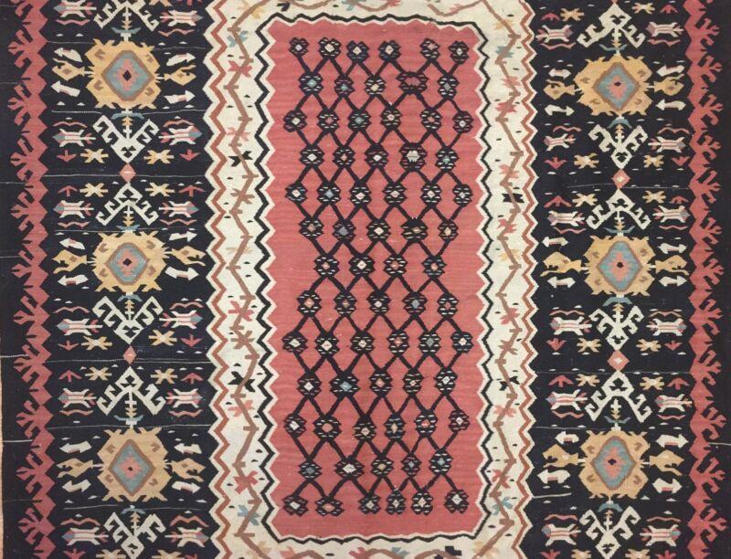 Beautiful Bessarabian - 1960s Antique Turkish Kilim - Flatweave Rug 6 X 8.4 Ft.