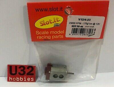 SLOT.IT MX16-M MOTOR V12/4-23 23000 rpm 170gr cm 12v CAJA CORTA