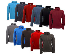 RRP-16-REGATTA-MENS-THOMPSON-HALF-ZIP-FLEECE-TOP-VARIOUS-COLOURS-SIZES