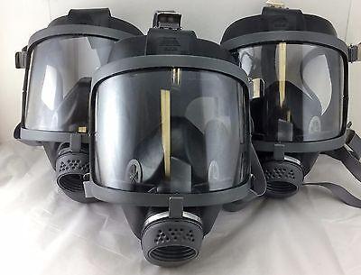 Scott/SEA Domestic Preparedness 40mm NATO NBC **Lot of 3** Gas Masks / Open Box