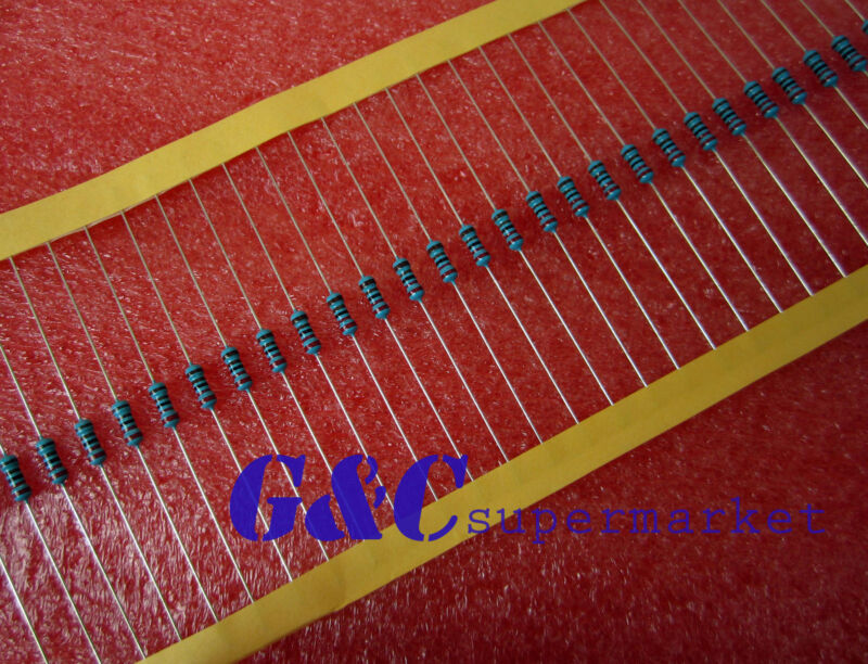 1000PCS NEW 10KΩ 10K Ohm 1/4W 0.25W 1% accuracy Metal Film Resistors RoHS R-MF