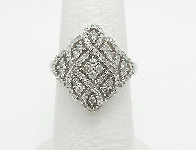 Vintage Style 1CT Diamond Anniversary Wedding Ring Band 10K White Gold  for sale  Shipping to Canada