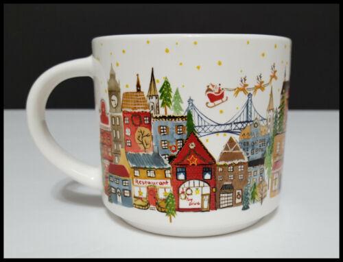 NEW Pottery Barn Christmas in the City Stoneware Mug 12 OZ