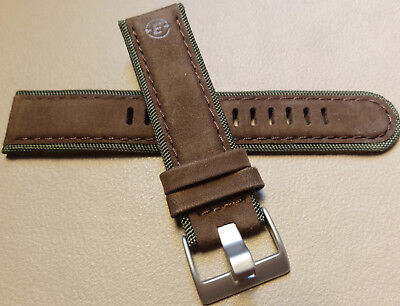 New Mens Timex Expedition Brown & Green T49541 22mm Padded Sport Watch Band  Brown Expedition Watch Band