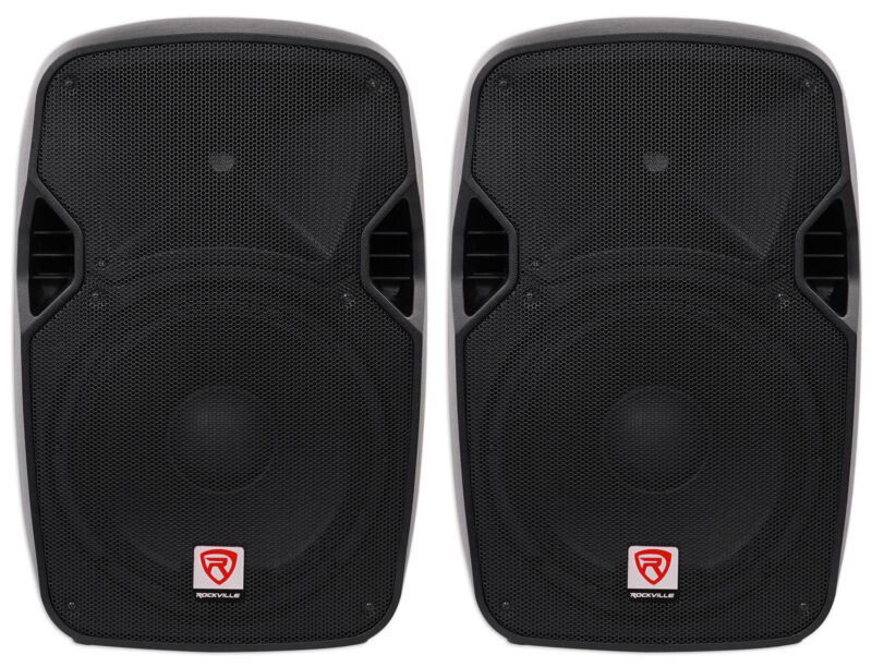 "(2) Rockville SPGN124 12"" Passive 2400W DJ PA Speakers ABS Lightweight Cabinets"
