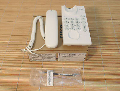 Neu Cisco CP-6901-WL-K9 Unified IP Phone Arctic White, Slimline Handset NEW OPEN Cisco 6901 Ip Phone