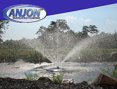 Anjon AFF10100 Floating Fountain 1 HP Motor 100 Cord 4 Nozzles