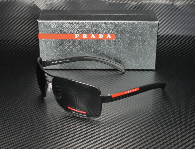 PRADA LINEA ROSSA PS 54IS 1BO1A1 Matte Black Black Rubb. Gray Men
