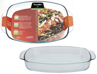 3.6 Litre Borosilicate Glass Heat Resistant Oven Dish