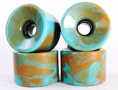 76mm 78a Longboard Wheels (Blank Blended Blue&Orange)