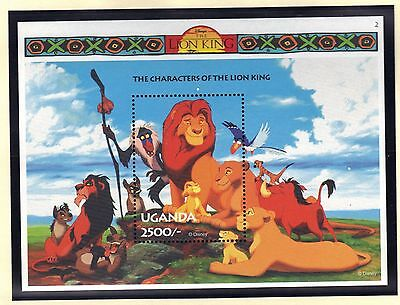 """UGANDA 1994 DISNEY 5 SOUVENIR SHEETS """"THE LION KING"""""""