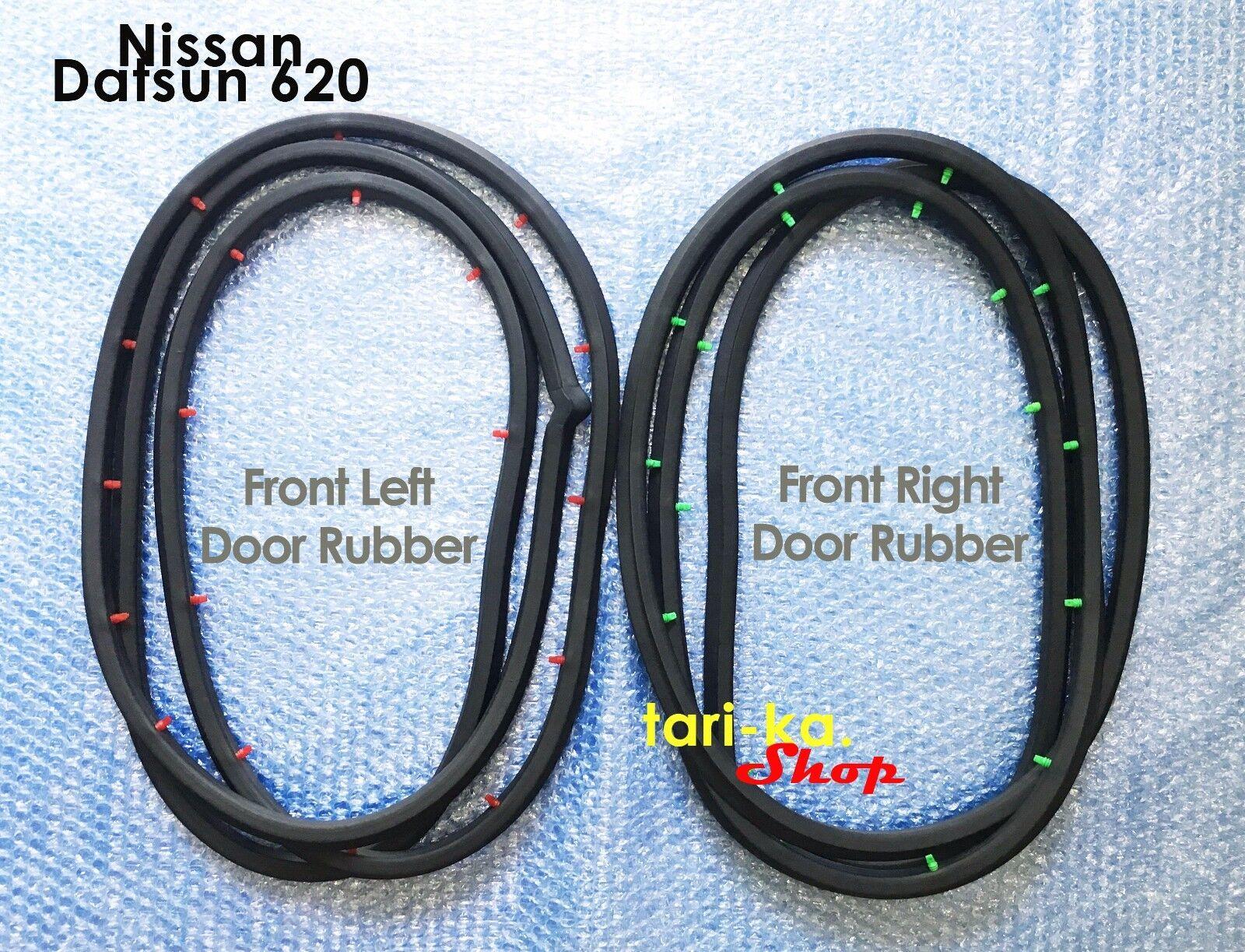 Door Rubber Weatherstrip Seal Front RH LH Set For Nissan Datsun 620 Pickup Truck
