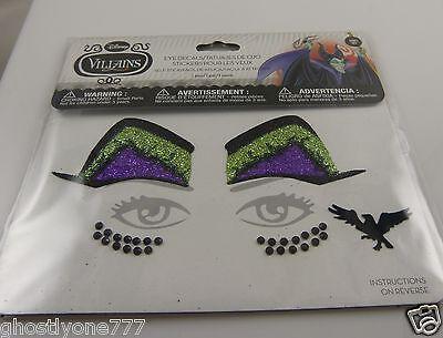 Evil Face Tattoos (Face tattoos body art skin Halloween Maleficent eyes glitter evil)