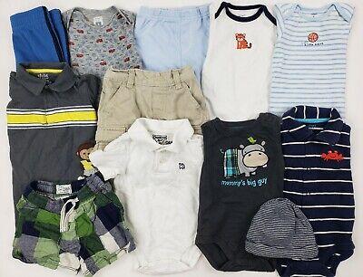 6-9 Months Baby Boys Clothes Lot Carters Oshkosh Place Etc Romper Collar Plaid
