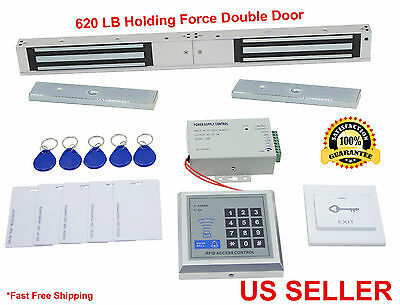 620LB Electric Lock Magnetic Access Control DOUBLE DOOR ID Card System7