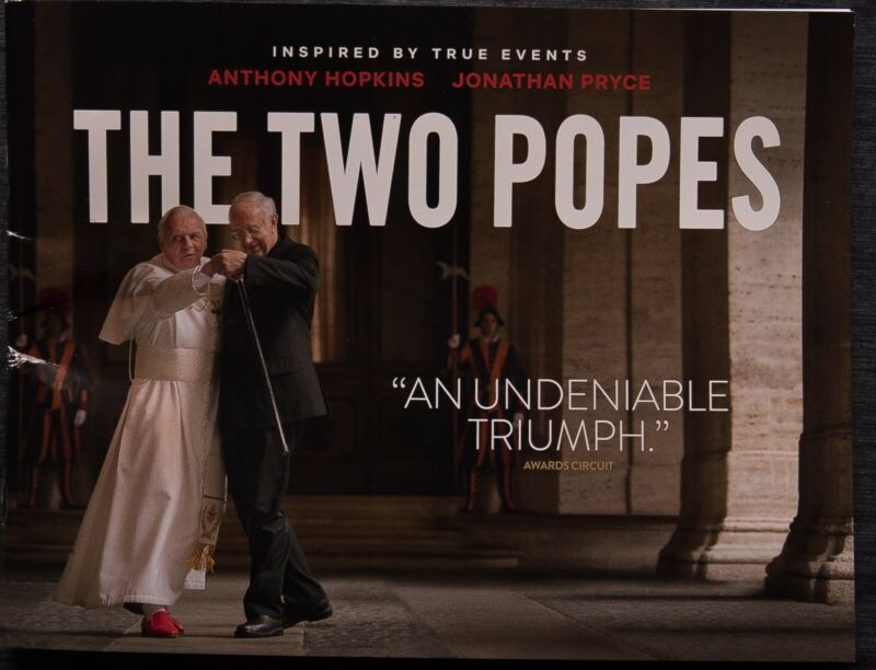 """""""THE TWO POPES"""": RARE HANDSOME 28 PAGE FYC  BOOKLET"""