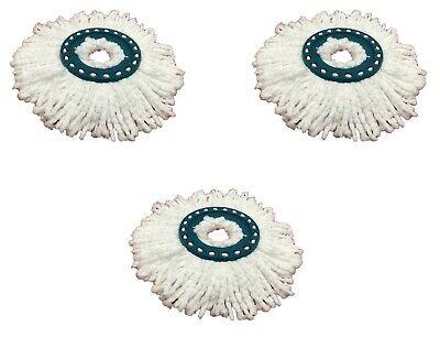 3 Stück LEIFHEIT Ersatzkopf Clean Twist System Wischmop Wischbezug Twister