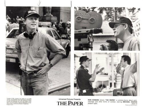 THE PAPER-RON HOWARD-MICHAEL KEATON-10X8-B/W- PRESS PHOTO-1994-2222-10