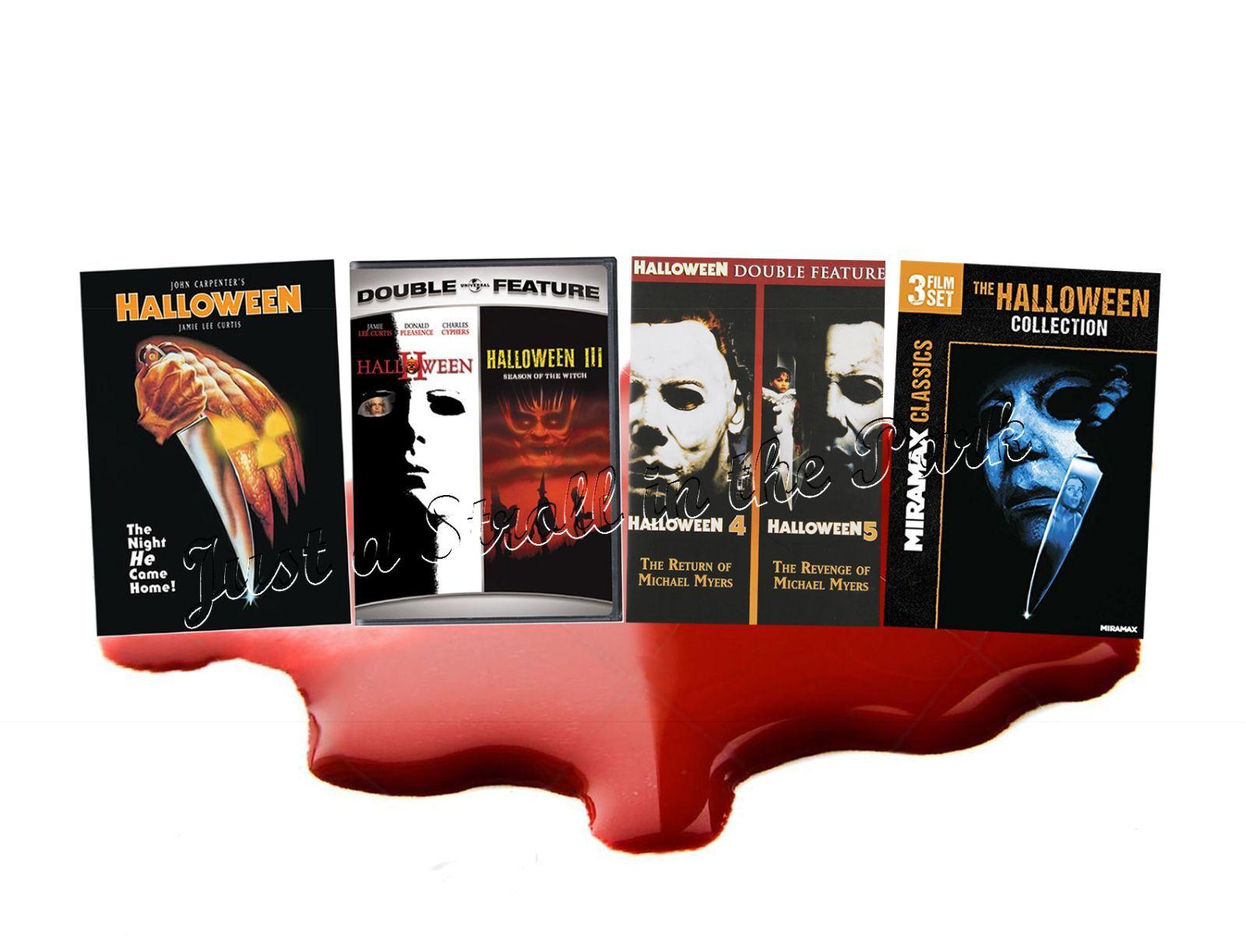 halloween film series complete movie 1 2 3 4 5 6 7 8 box / dvd set(s
