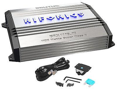 New Hifonics Brutus Brx1116 1D 1100 Watt Rms Class D Mono Amplifier Car Amp