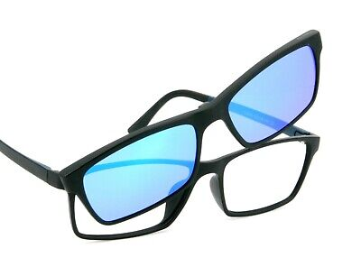 Herrenbrille Gleitsicht mit Magnet-Sonnenschutz schwarz matt