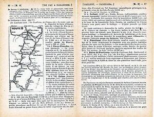 Pau-Zaragoza-1915-peq-mapa-dentro-testo-orig-Jaca-Somport-Panticosa-Biescas