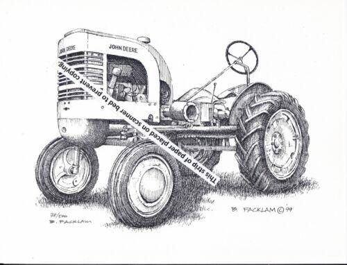 John Deere Model LA Tractor, Styled ~ Pen & Ink Print