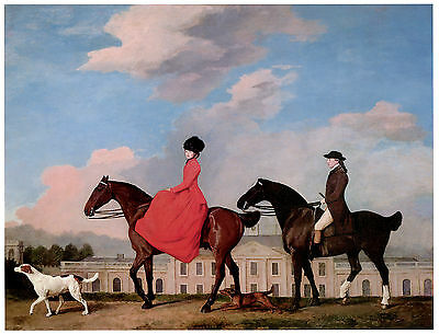 John & Sophia Musters Riding at Colwick Hall- George Stubbs- Horse Art on Canvas
