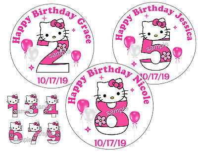20 HELLO KITTY BIRTHDAY PARTY FAVORS 2 INCH STICKERS FOR YOUR PARTY FAVORS](Kitty Birthday)