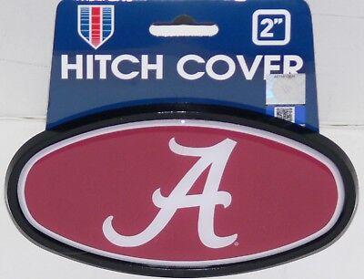 "ALABAMA CRIMSON TIDE 2"" DURABLE PLASTIC TRAILER HITCH COVER HITCH CAP"
