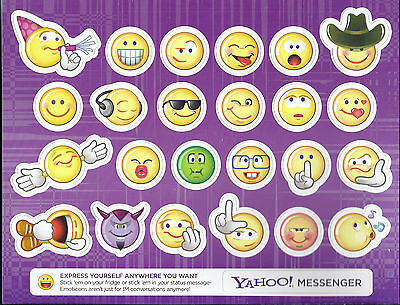 Yahoo Messenger Emotion Icon Frige Refrigerator Magnets  One Sheet With 24
