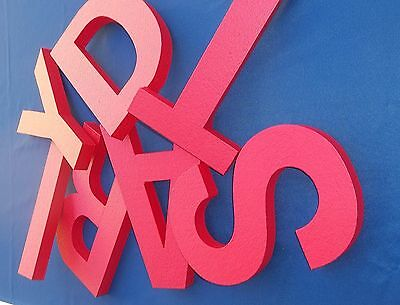6 Inch Tall Painted Foam Wall Letters For Building Signs