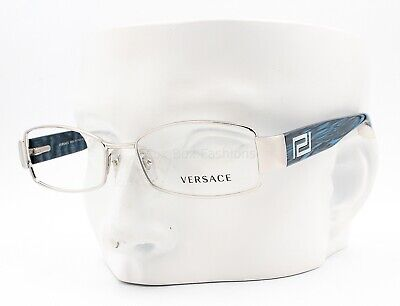 Versace MOD 1168H 1028 Eyeglasses Optical Frames Glasses Silver / Blue 52-16-135