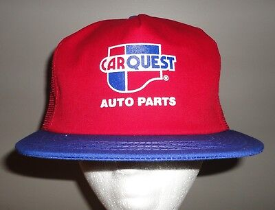 Vintage Carquest Auto Parts Red Mesh Snapback Trucker Hat K Products Brand  New