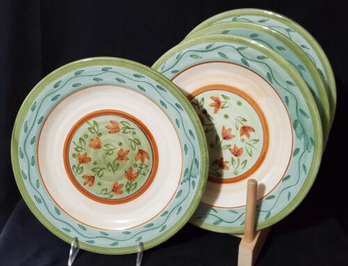 "CULINARY ARTS STUDIO (4) Dinner Plates JULIE INGLEMAN 11"" MINTY!"