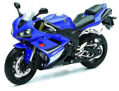 Yamaha YZF-R1 Blue-White Year 2008 Scale 1:12 Motorcycle Model from Newray