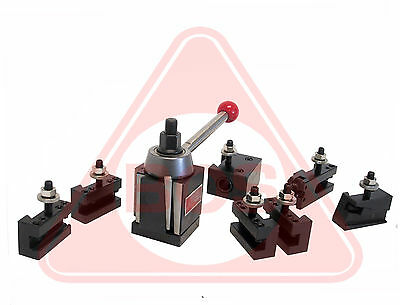 """BOSTAR BXA Wedge Tool Post for Lathe 10-15""""Plus 2 Extra XL Oversize Tool Holders"""