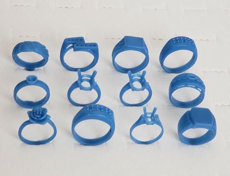 12 wax Ring assortment. Wax Patterns for lost wax casting 21-138