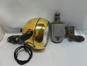 antike bosch lampe messing mit 6v batterie u 6v berko. Black Bedroom Furniture Sets. Home Design Ideas