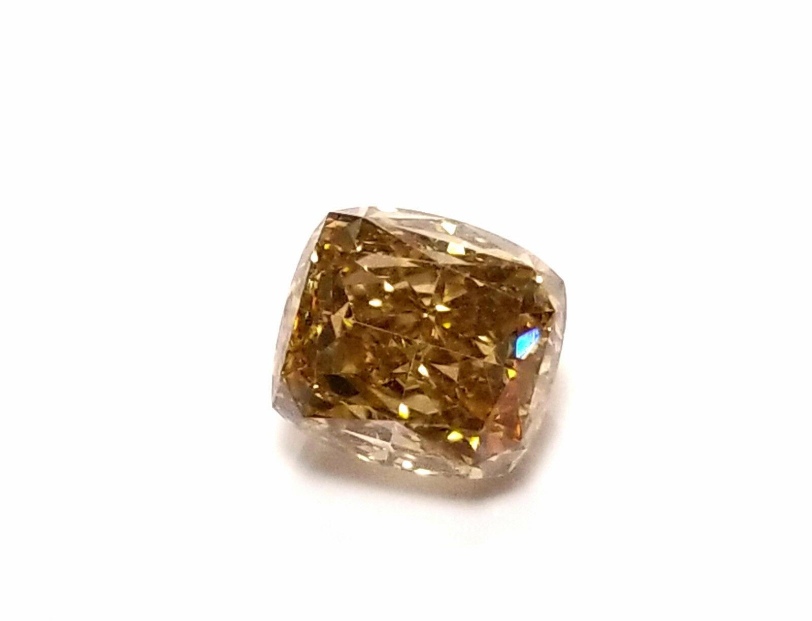 Whiskey 1.03ct Natural Loose Real Fancy Brown Diamond Cushion Cut SI1 GIA